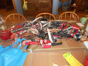 Pile of New Collars and Leashes